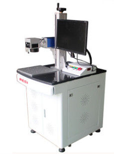 Desktop Small Fiber Laser Marking System , Industrial Laser Marking Equipment